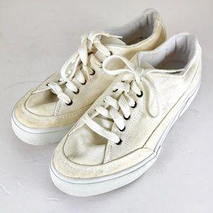 Vintage 90s Nike cream white canvas sneakers 8.5